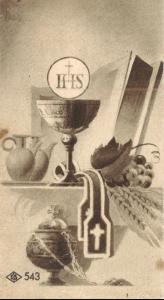 Obrazek prymicyjny 1943 rok Ołtarzew