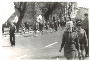 Pochód pierwszomajowy wOżarowie 1968 rok