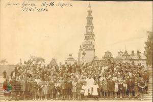 Pielgrzymka parafialna naJasną Górę 1948 r.