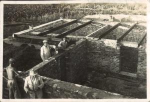 Budowa plebanii 1950 rok