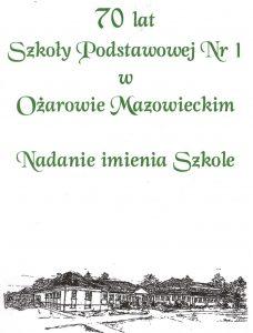 Folder SP nr1 z2000 roku