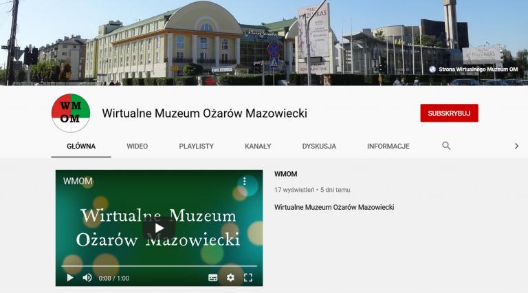 Kanał Wirtualnego Muzeum naYouTube